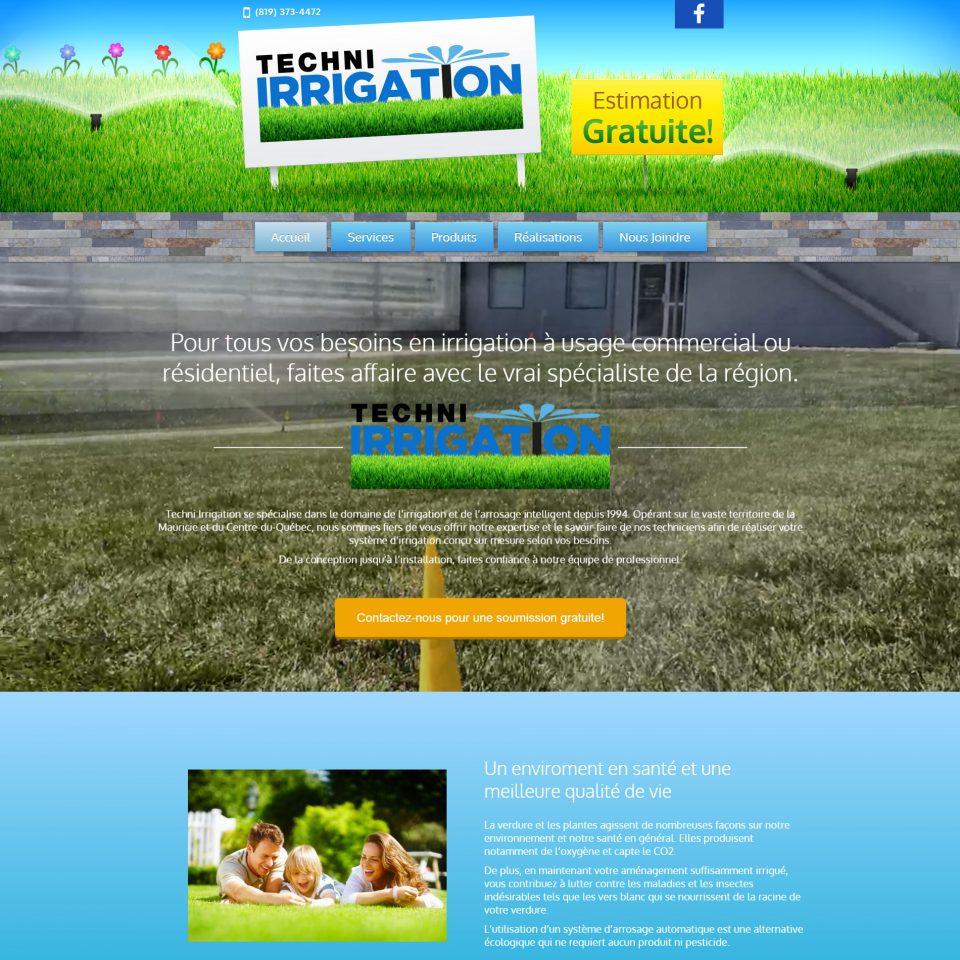 Techni Irrigation | Services et installation de system irrigation à Trois-Rivières